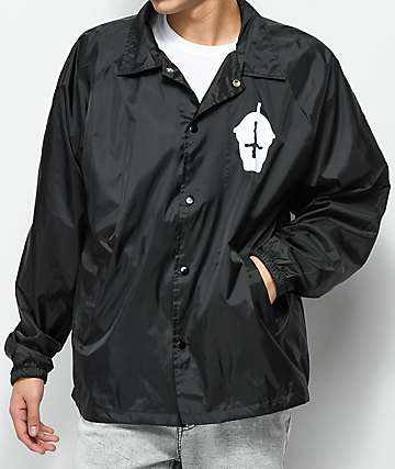 Slushcult Core Black Coaches Jacket