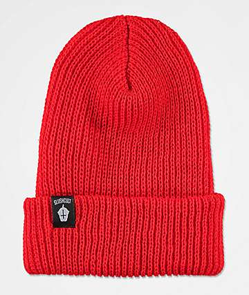 Slushcult Cross Cup Red Beanie