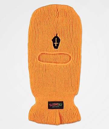 Slushcult Cross Cup pasamontañas naranja neón