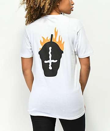 Slushcult Fire White T-Shirt