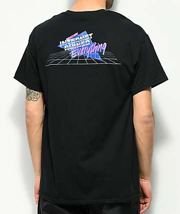 Slushcult Internet camiseta negra