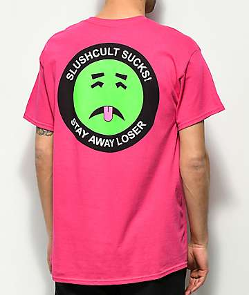 Slushcult Stay Away camiseta rosa