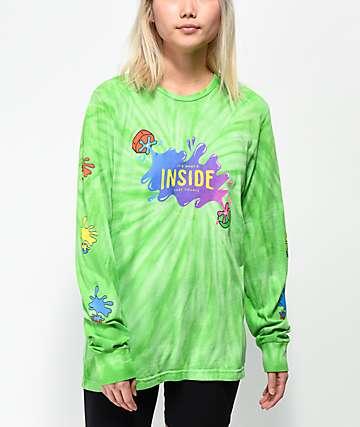 Slushcult x Gushers Tie-Dye camiseta verde de manga larga