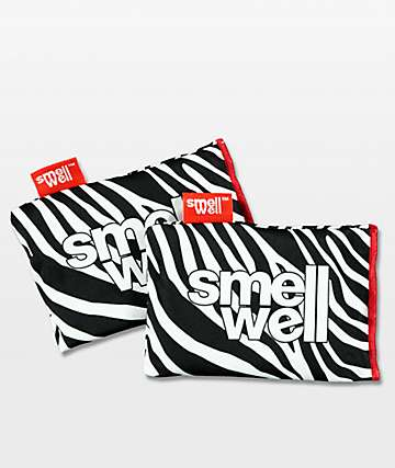 Smell Well Zebra White & Black Pouch