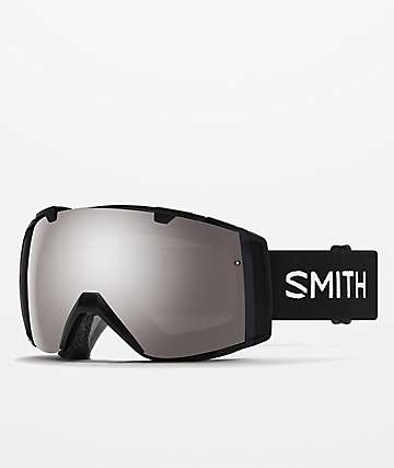 Smith I/O Black Sun Platinum Mirror & Storm Rose Snowboard Goggles