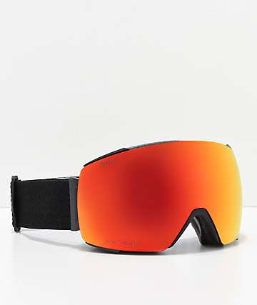 Smith IO Mag Black & Red Snowboard Goggles