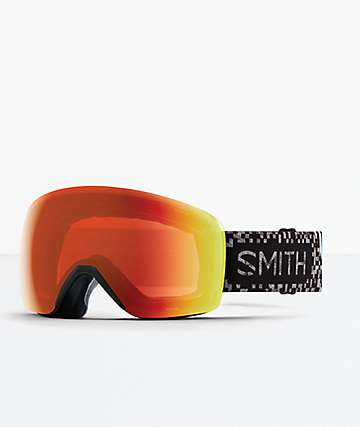 Smith Skyline Game Over Everyday Red Mirror Snowboard Goggles