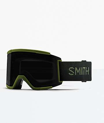 Smith Squad XL Moss Surplus & Sun Black Snowboard Goggles