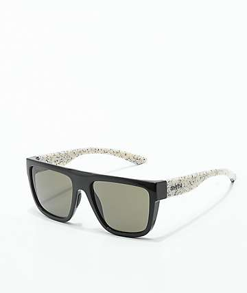 Smith The Comeback Black & White Splattered Polarized Sunglasses