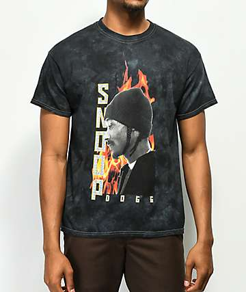 Snoop Dogg Fuego Black Tie Dye T-Shirt