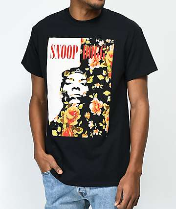 Snoop Dogg Rose Black T-Shirt