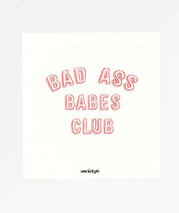 Society6 Bad Ass Babes Club Sticker