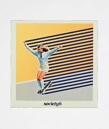 Society6 Skate Like A Girl Sticker
