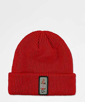 Spacecraft Rainier Beer Bod Red Beanie