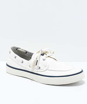 Sperry Captains 2-Eye White Shoes