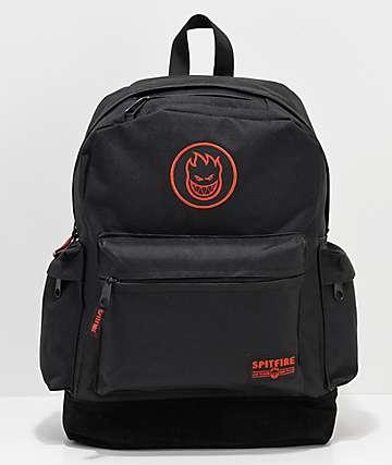 Spitfire Big Head mochila negra y roja