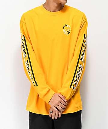 Spitfire Bighead Bar Check camiseta dorada de manga larga