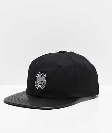 Spitfire Bighead Black & Orange Snapback Hat