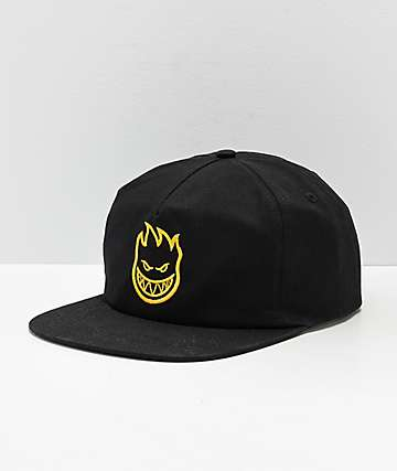 Spitfire Bighead Black & Yellow Snapback Hat