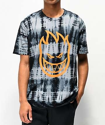 Spitfire Bighead Black Tie Dye T-Shirt