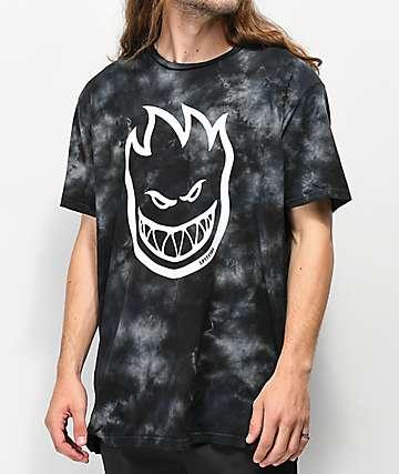 Spitfire Bighead Black Washed T-Shirt