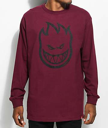 Spitfire Bighead Burgundy Long Sleeve T-Shirt