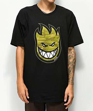 Spitfire Bighead Camo Black T-Shirt