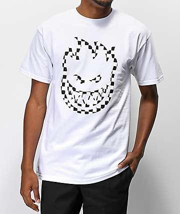 Spitfire Bighead Check White T-Shirt