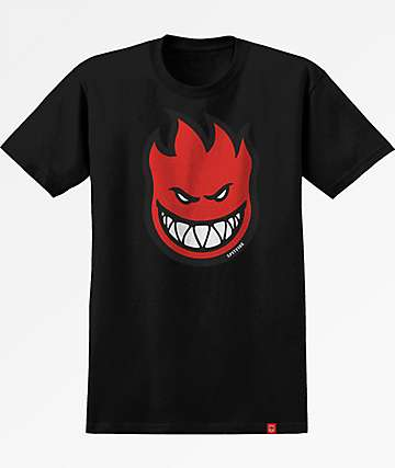 Spitfire Bighead Fill Black & Red T-Shirt