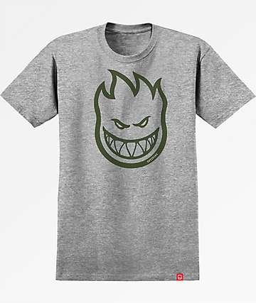 Spitfire Bighead Grey & Army Green T-Shirt