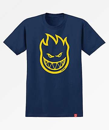Spitfire Bighead Navy & Yellow T-Shirt