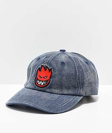 Spitfire Bighead Navy Denim Strapback Hat
