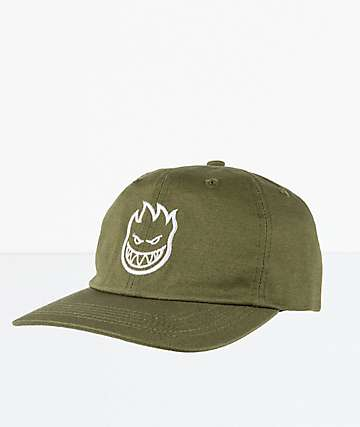 Spitfire Bighead Olive Strapback Hat