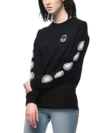 Spitfire Bighead Swirl Black Long Sleeve T-Shirt