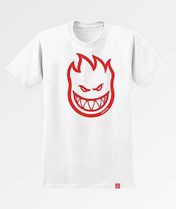 Spitfire Bighead White & Red T-Shirt