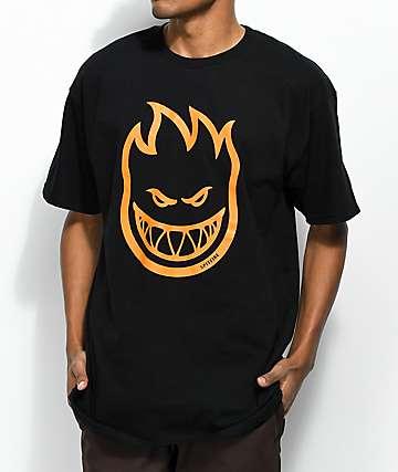 Spitfire Bighead camiseta negra y naranja