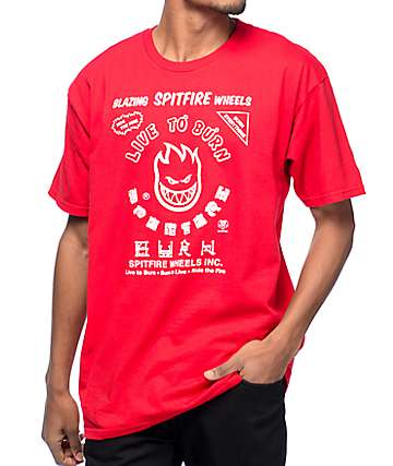Spitfire Blazing Red T-Shirt