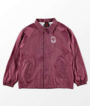 Spitfire Boys Bighead Burgundy Coaches Jacket