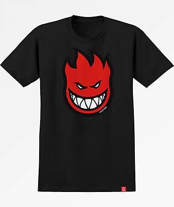 Spitfire Boys Bighead Fill HD Black T-Shirt