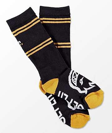 Spitfire Boys Classic Bighead Black Crew Socks