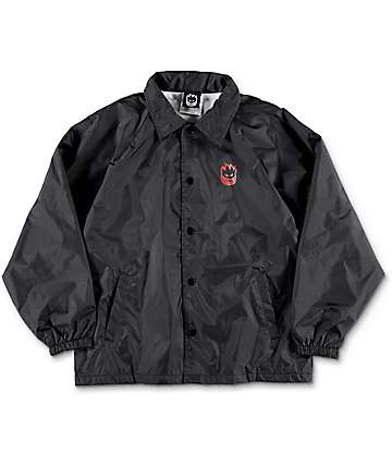 Spitfire Boys Double Big Head Black Coaches Jacket
