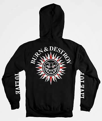 Spitfire Burn & Destroy Black Hoodie