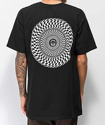 Spitfire Checkered Swirl camiseta negra