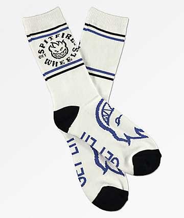 Spitfire Classic Bighead White, Black & Blue Socks