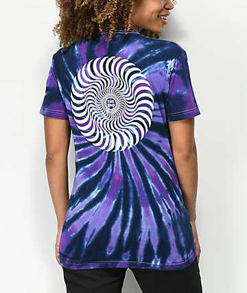 Spitfire Classic Swirl Purple Tie Dye T-Shirt