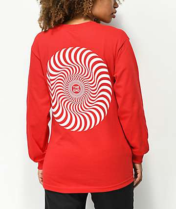 Spitfire Classic Swirl Red Long Sleeve T-Shirt