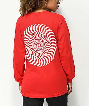 Spitfire Classic Swirl Red Long Sleeve T-Shirt