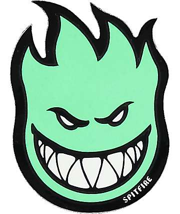 Spitfire Fireball Glow In The Dark Small Sticker