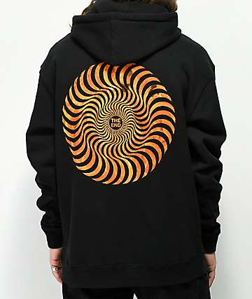 Spitfire Flame Fill Swirl Black Hoodie