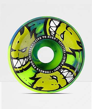 Spitfire Formula Four Afterburner 56mm 99a Green & Blue Skateboard Wheels